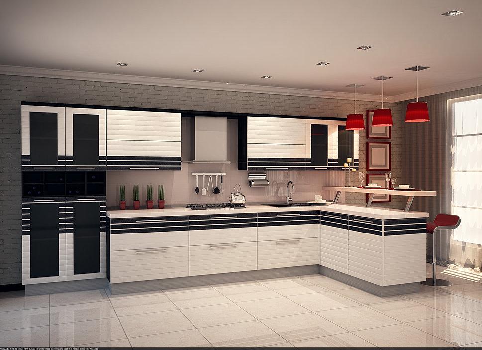 Кухни фото с гнутыми фасадами