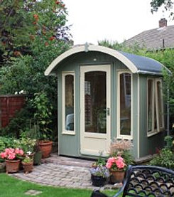 Curved Roof Shed in Newcastle Upon Tyne