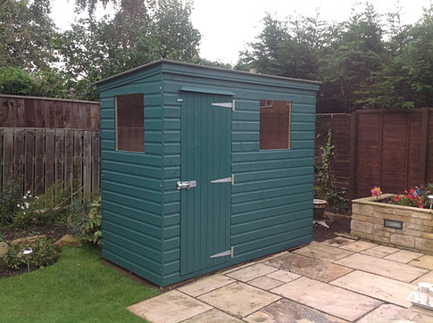 8 x 4 'Plessey' Pent Roof Shed