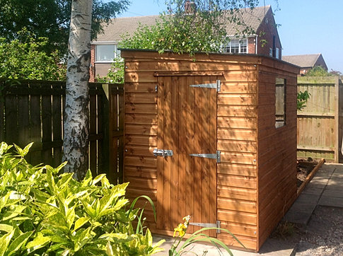 7 X 5 'Plessey' Pent Roof Shed