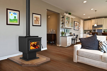 Sirocco 30 with Pedestal.jpg - Blaze King Freestanding Wood Stoves