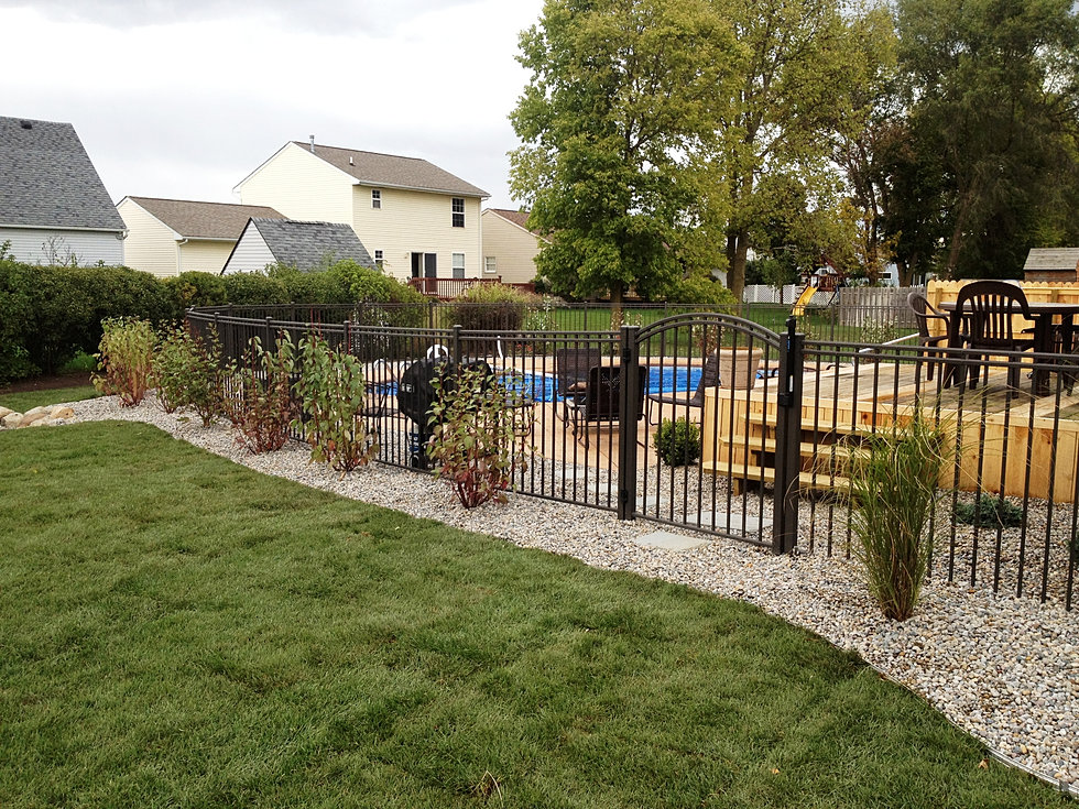 Ak lawn care 48160 porfolio page for Low maintenance pool landscaping