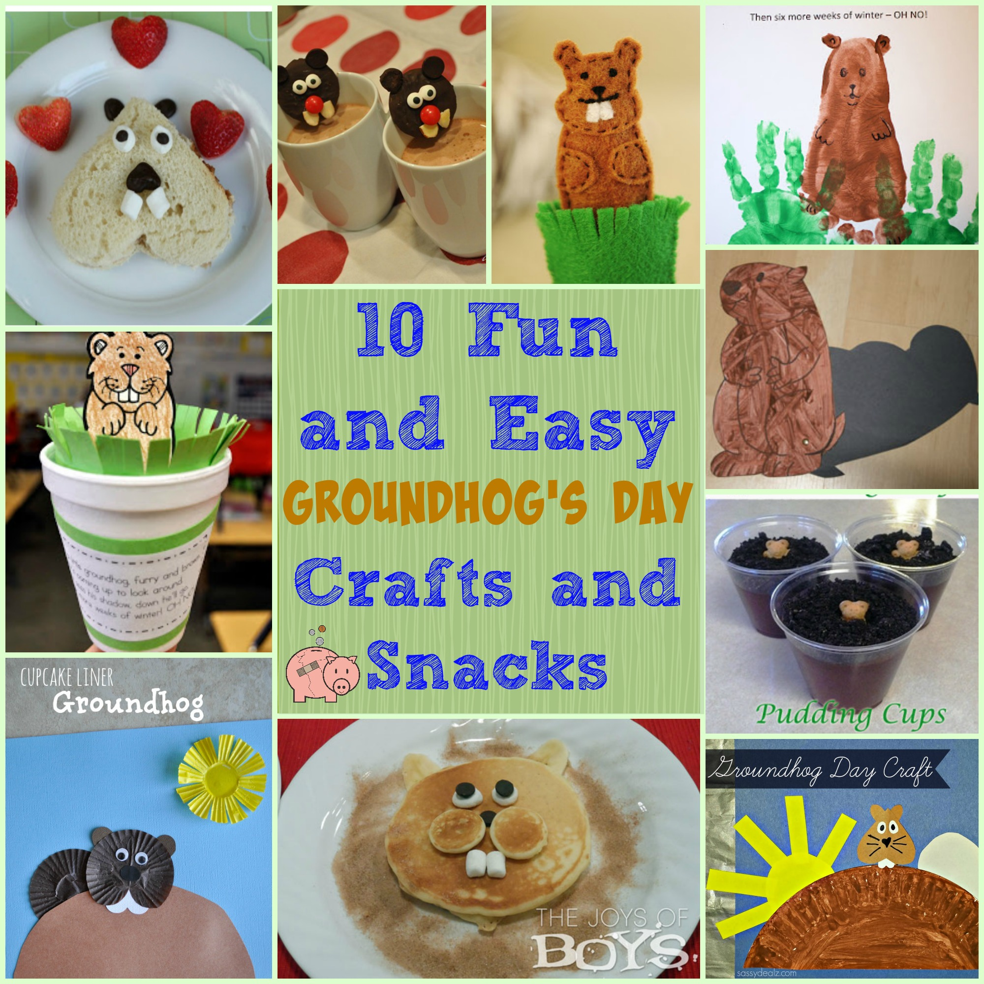 10 fun and easy groundhog u0027s day crafts and snacks mending the
