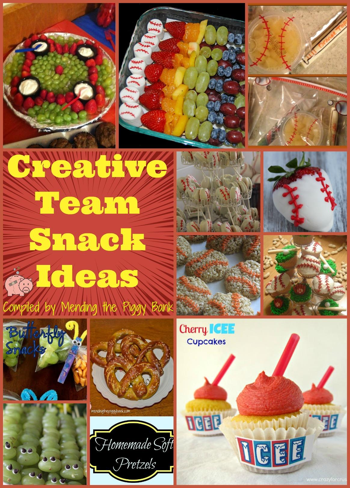 Creative Team Snack Ideas   Mending the Piggy Bank
