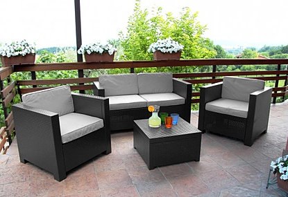 terrasse salon jardin. Black Bedroom Furniture Sets. Home Design Ideas