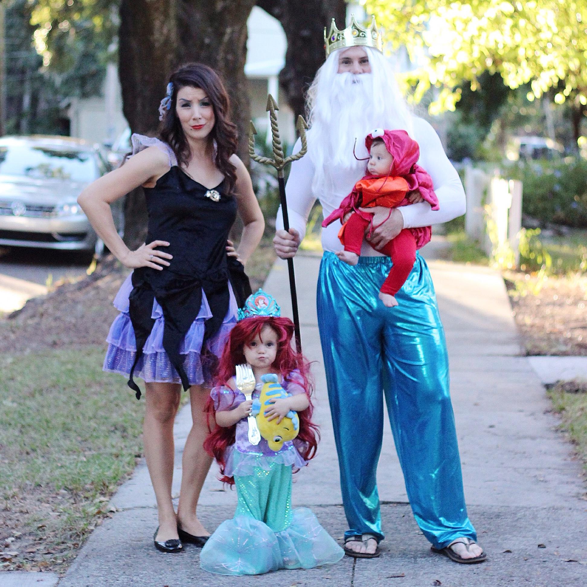 Family Little Mermaid Halloween Costume