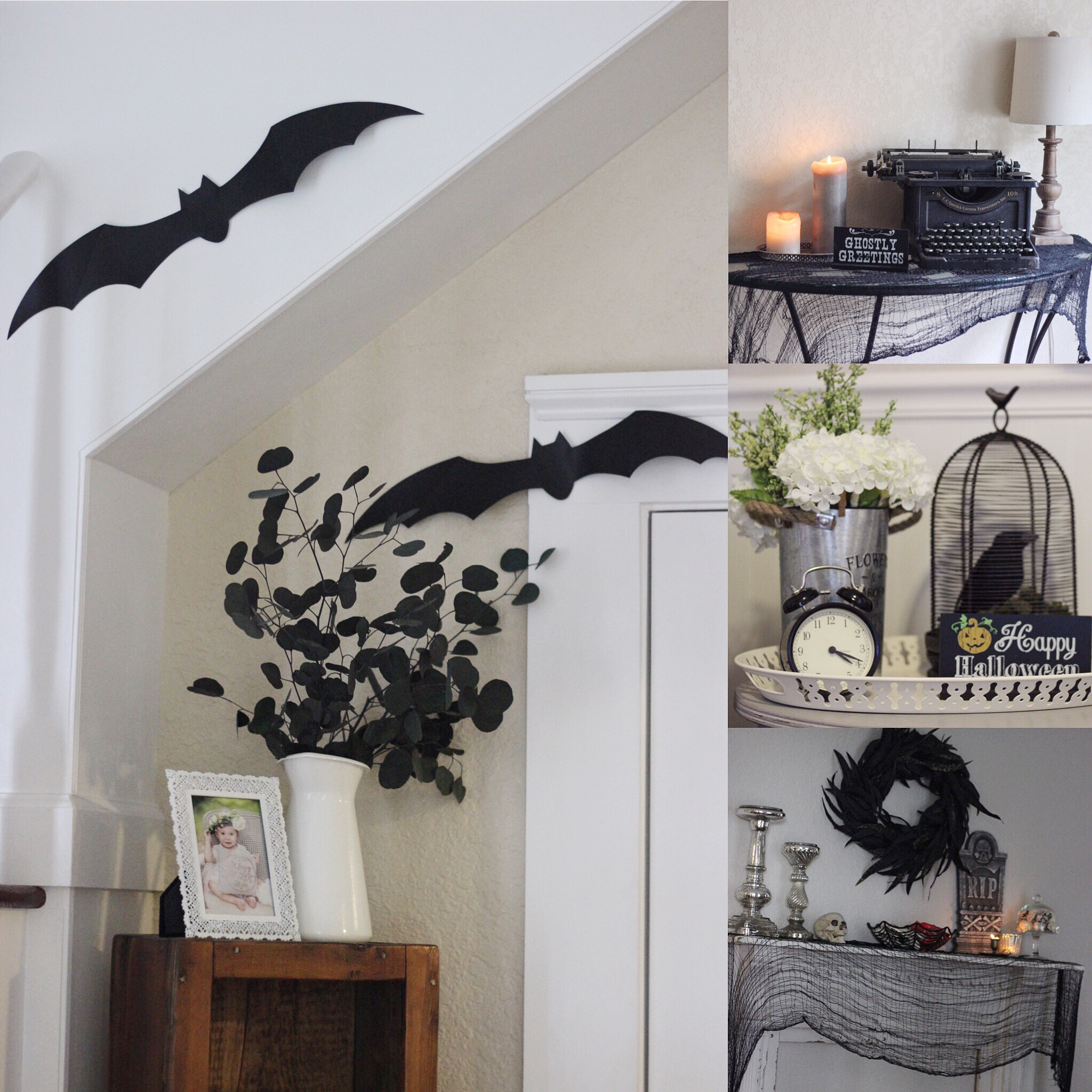 Simple farmhouse halloween decor