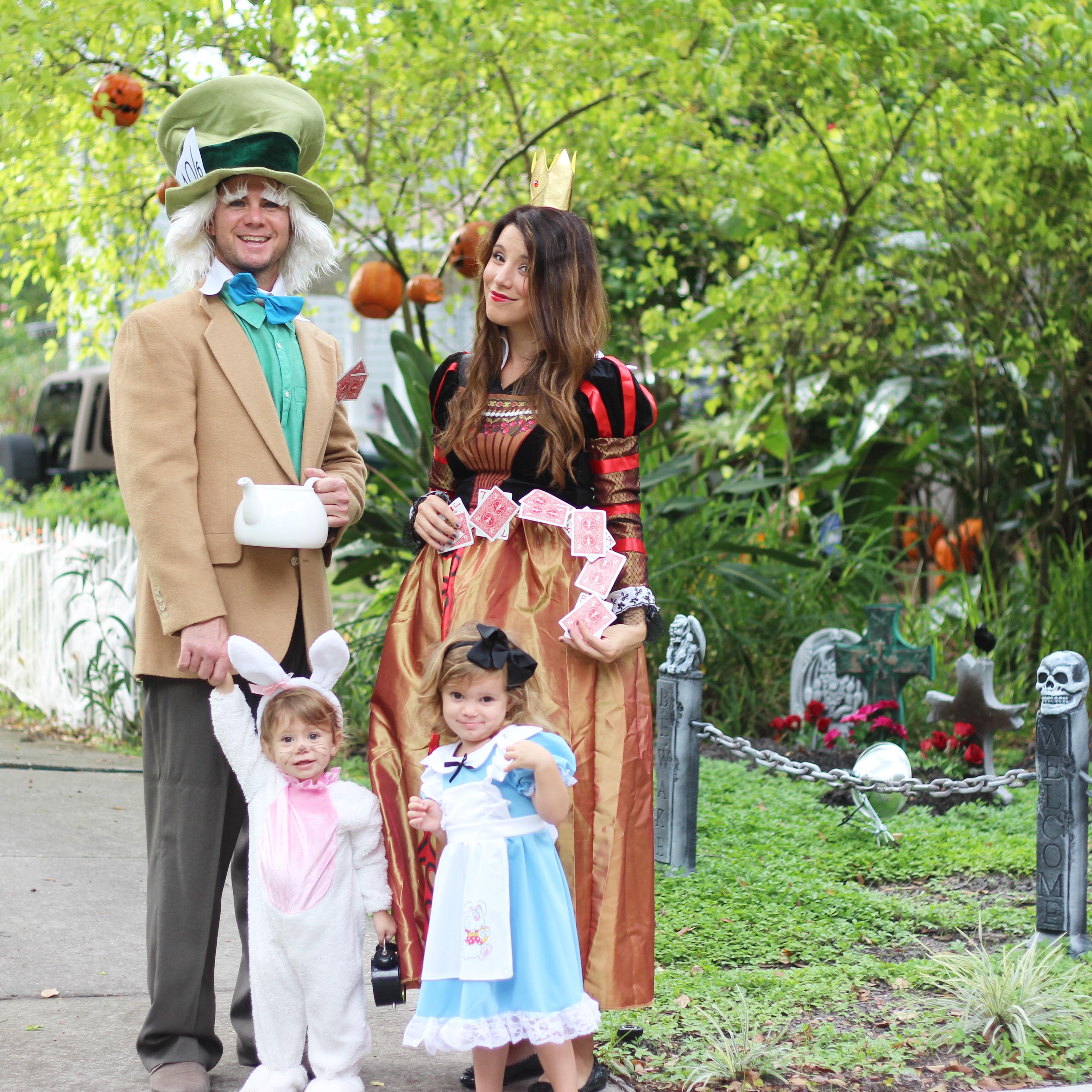 Alice In Wonderland family Halloween costume