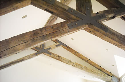 timber and bean solutions tulsa oklahoma reclaimed wood   Scissor Truss-Great Room Trusses