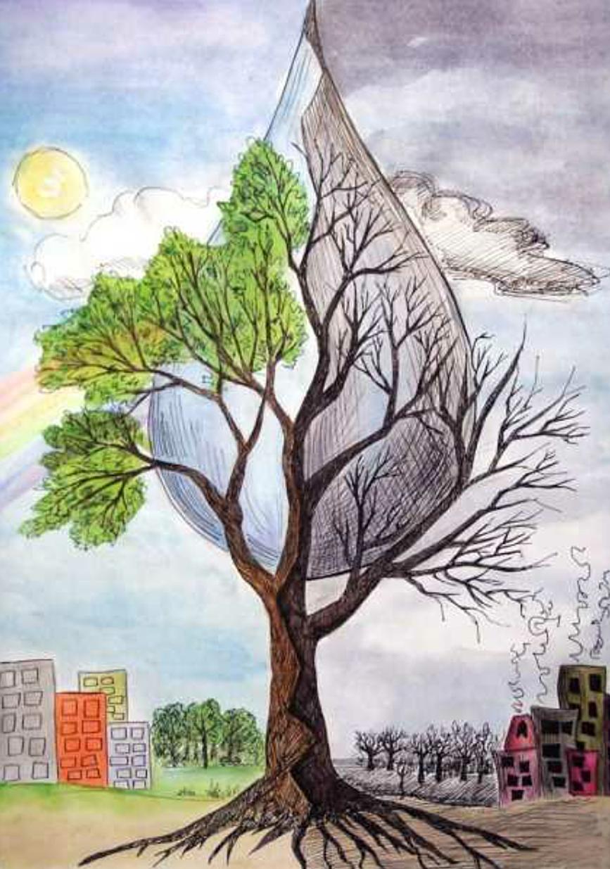 Нарисованные рисунки на тему экология