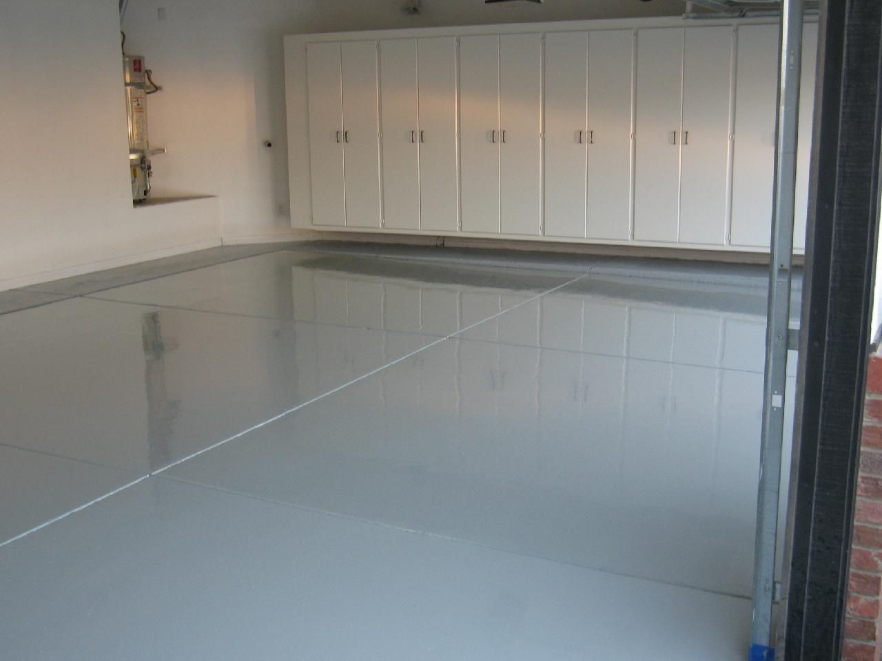 Garage cabinets and epoxy floor coatings california for Flooring bakersfield