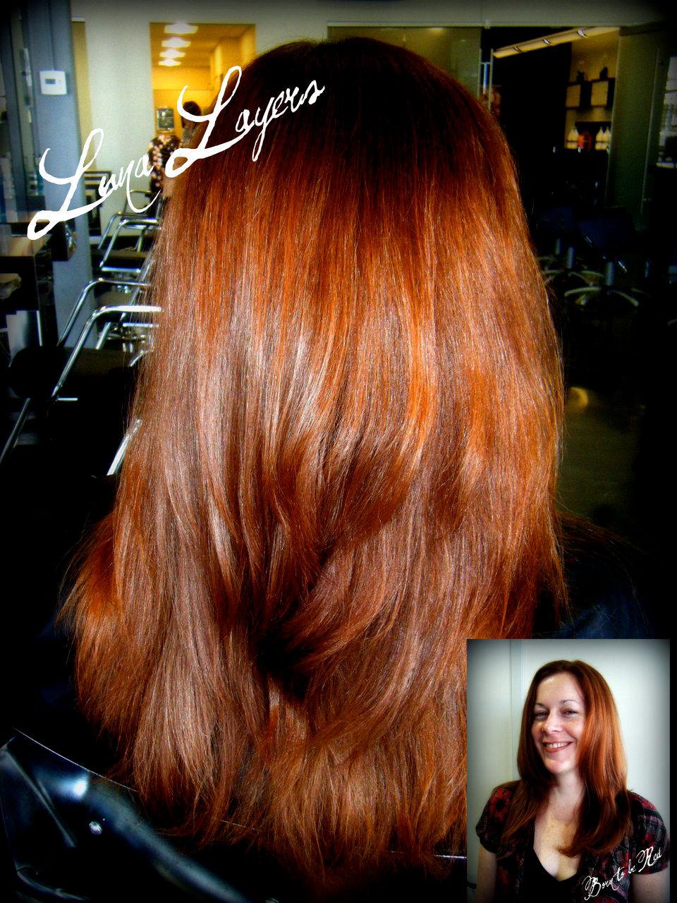 Orange hair highlights