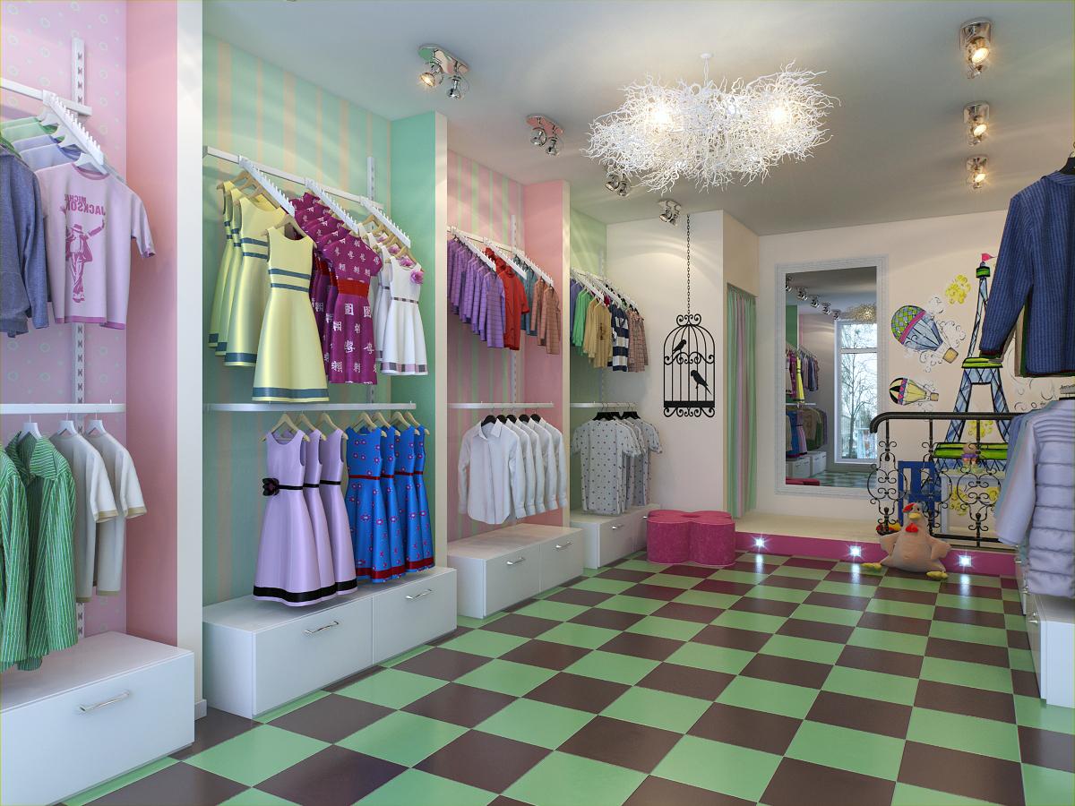 Дизайн бутика детской одежды фото