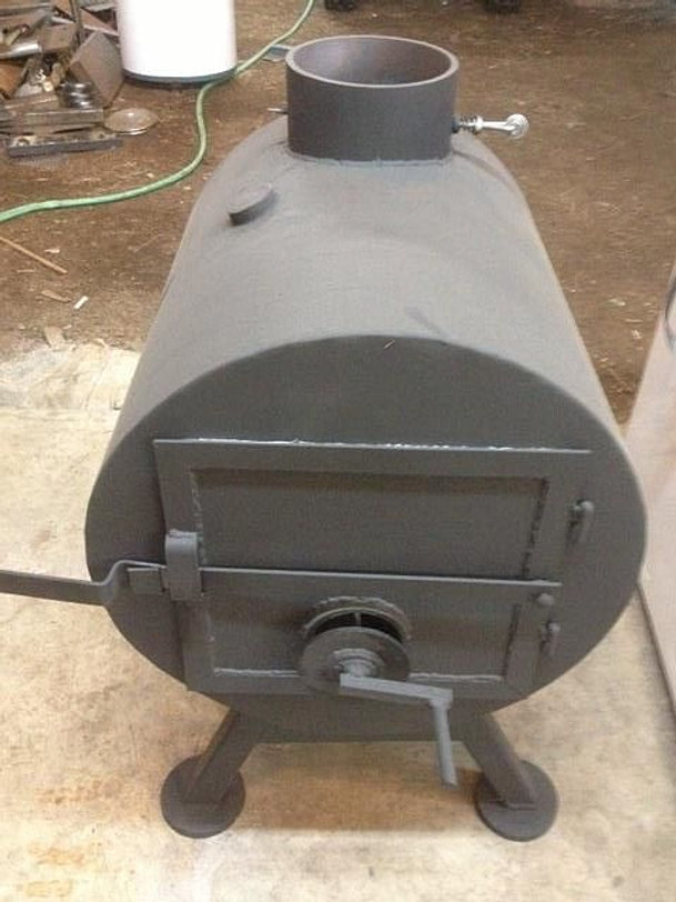 This is a half barrel stove. - Second Round Wood Stoves Shop Stoves