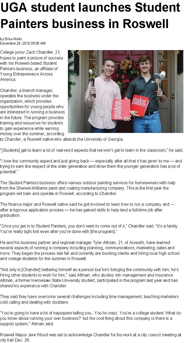student painters news uga 2 jpg
