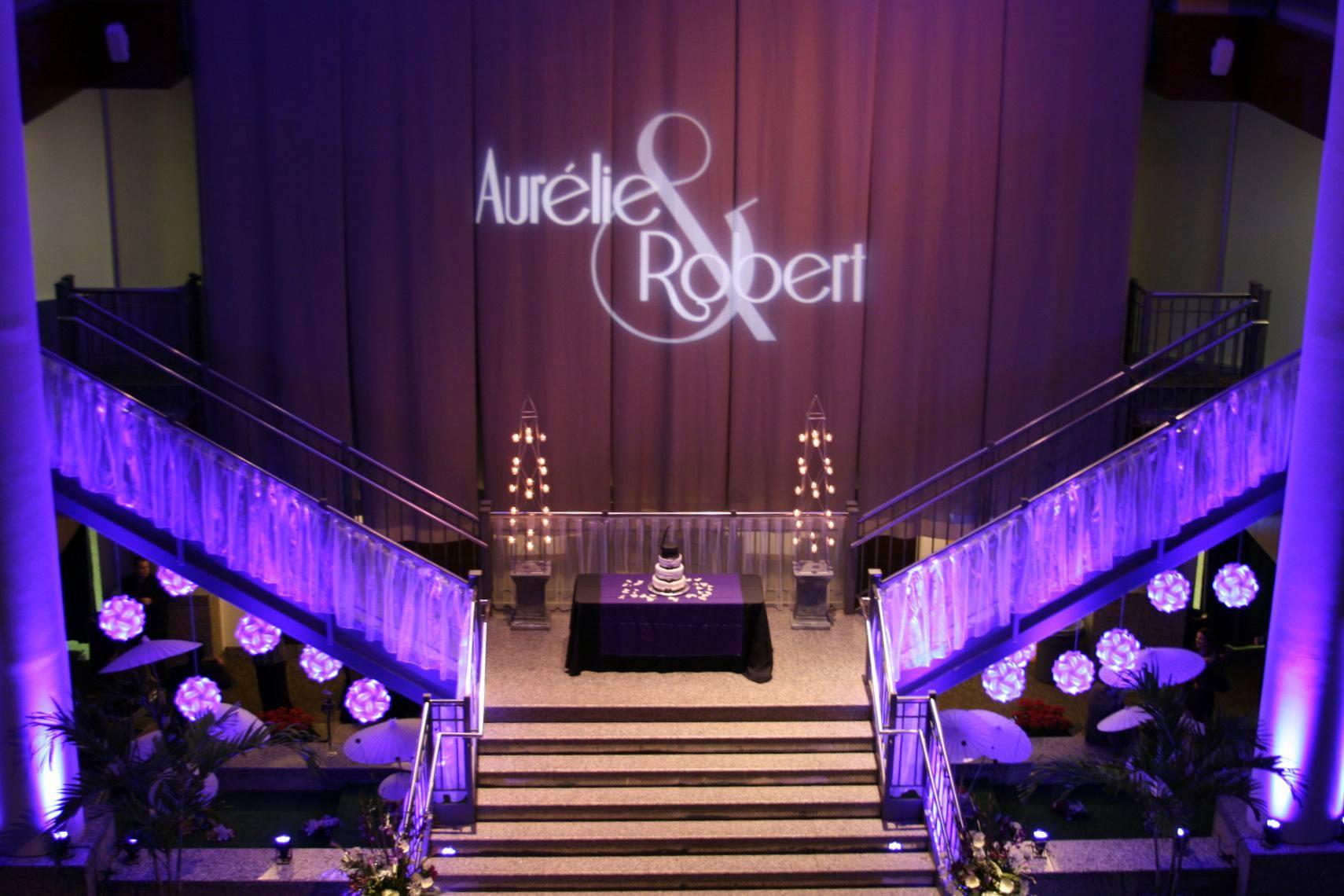 Innovative lighting design wedding and event lighting services