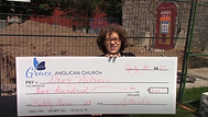 Tracey holding Doug Wilson's chq - Weekly Wins Draw 12.png