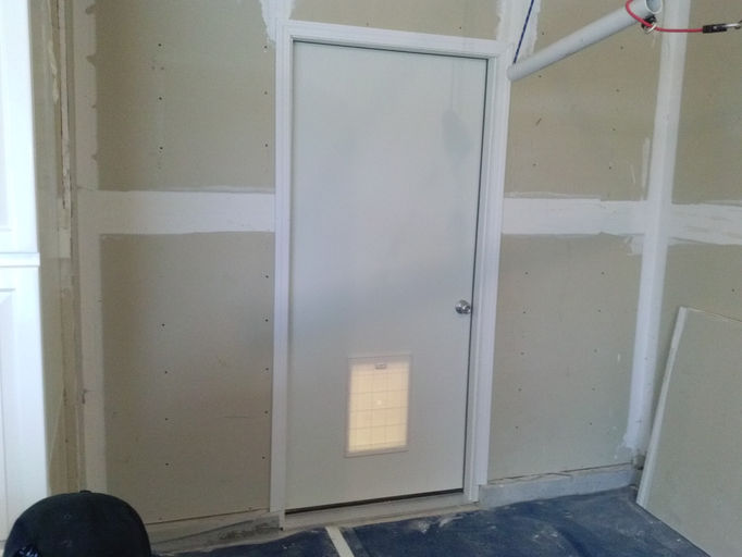 Jeremy l huber handyman services registered and insured - Exterior door with pet door installed ...