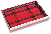 Steel drawer divider for cabinet