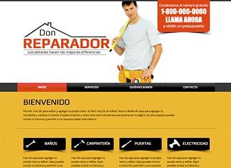 Mantenimiento Template - Utiliza las templates web Hazlo-Tú-Mismo para las empresas de construcción o servicios de reparaciones. Aprovecha el abundante espacio para agregar testimonios y descripciones detalladas de los servicios. ¡Personaliza el diseño y la combinación de colores para confeccionar una web gratis profesional!