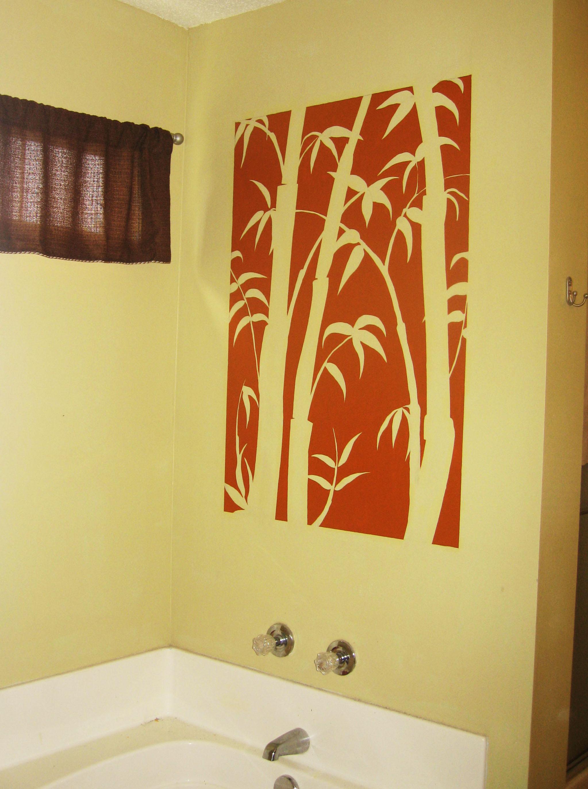 Uae murals bamboo silhouette mural for Mural u vukovarskoj ulici