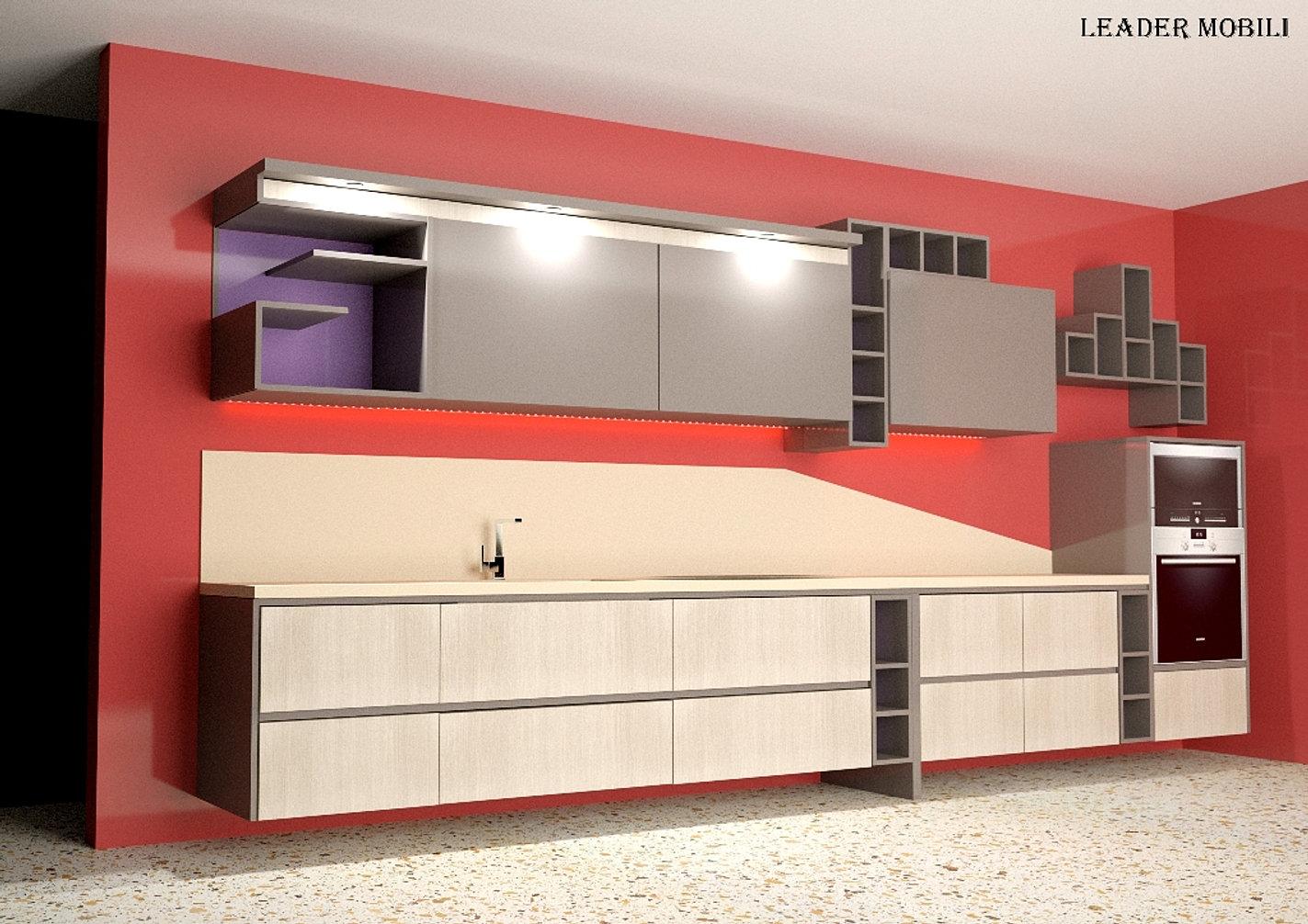 Cucina in legno avantgarde