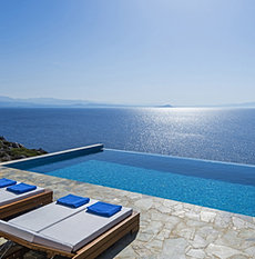 Luxury seafront rental villa Chania