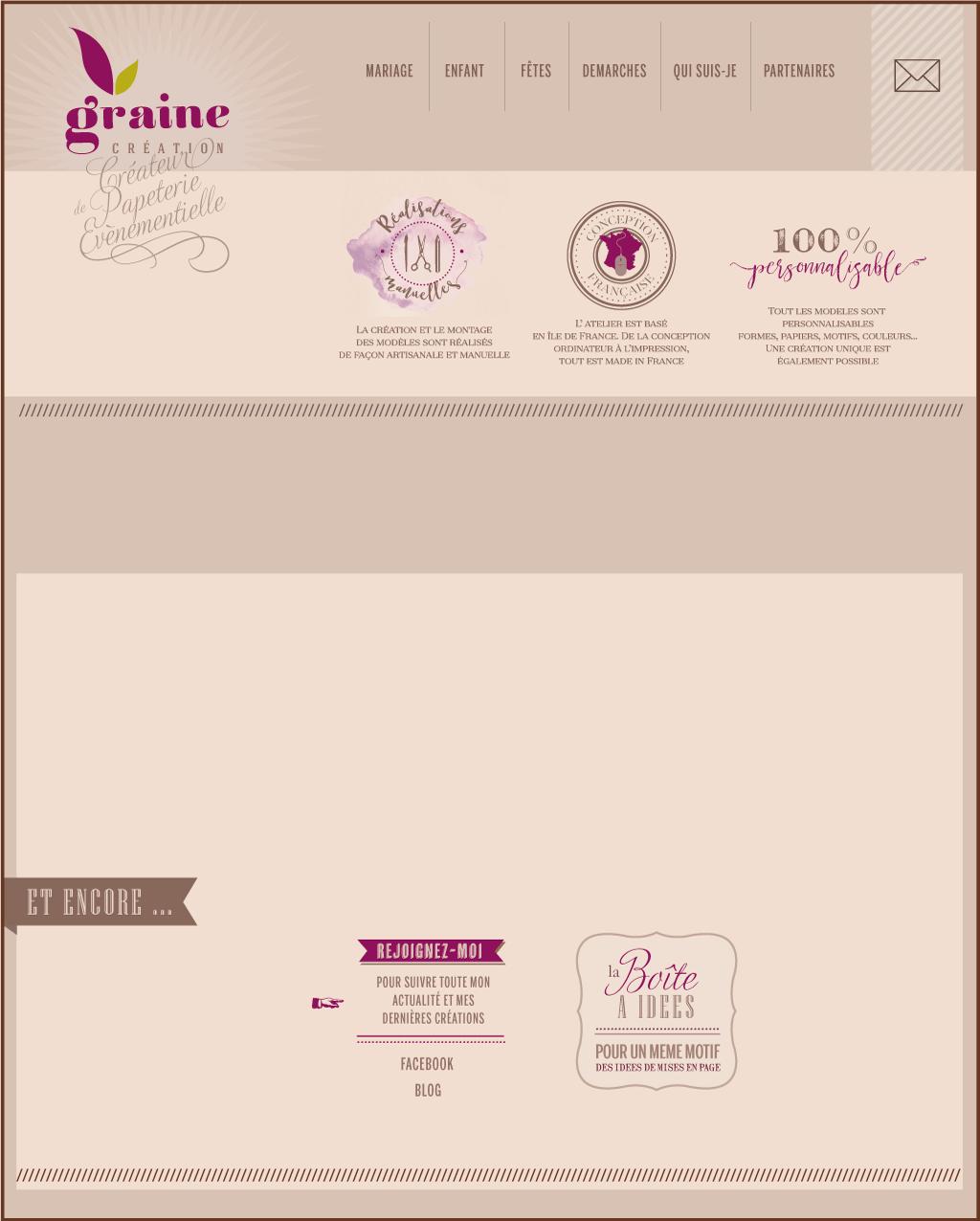 Populaire Graine création: Faire part mariage et naissance sur mesure OV75