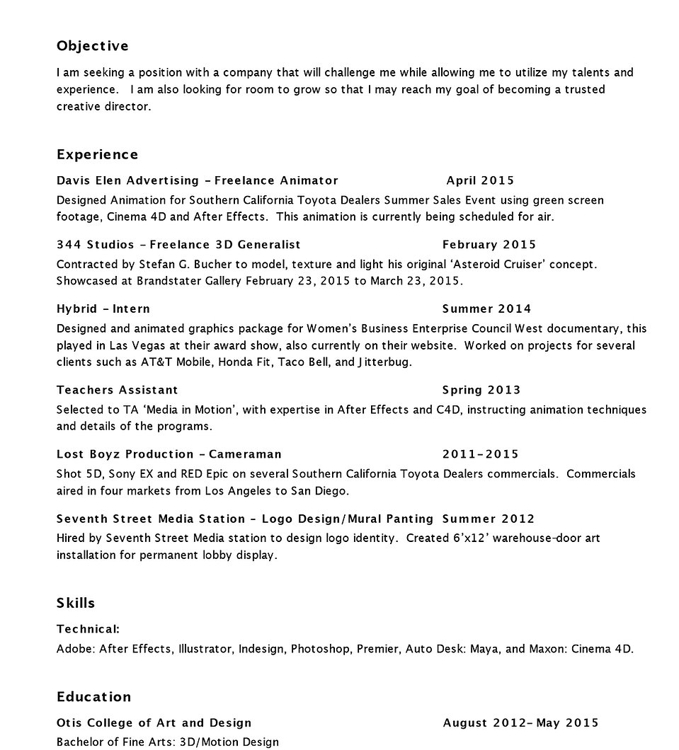 jville resume home middot portfolio middot contact middot resume