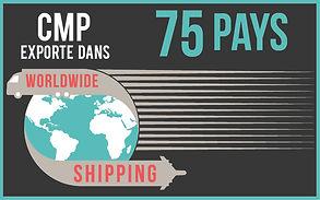 CMP Paris import/export : nos produits sont présents dans 75 pays