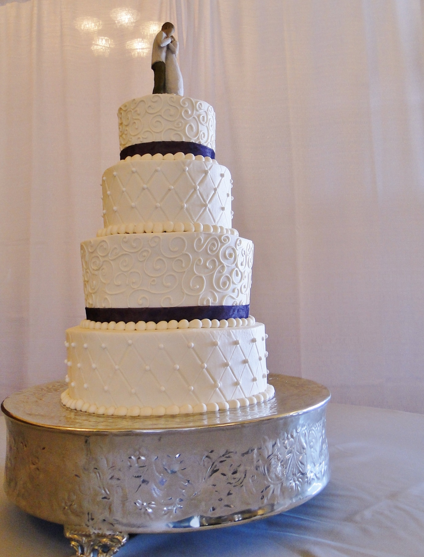 Pearls Diamonds Wedding Cake
