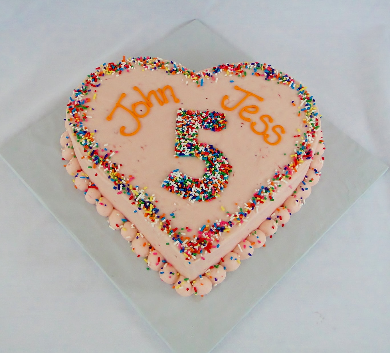 Heart Shaped Anniversary Cake Images : The Swirl Cakes Custom Cakes Triad NC Heart Shaped ...