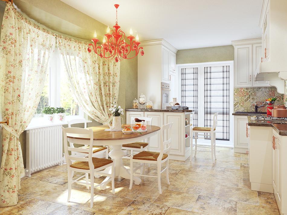 3д визуализация интерьера кухни