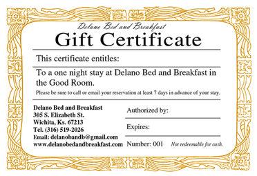 Delano Bed and Breakfast - Wichita, Kansas