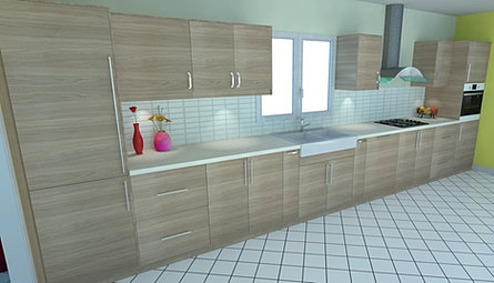Dynamique agencement rendered 3d kitchen made 3d images for Ikea 3d cuisine