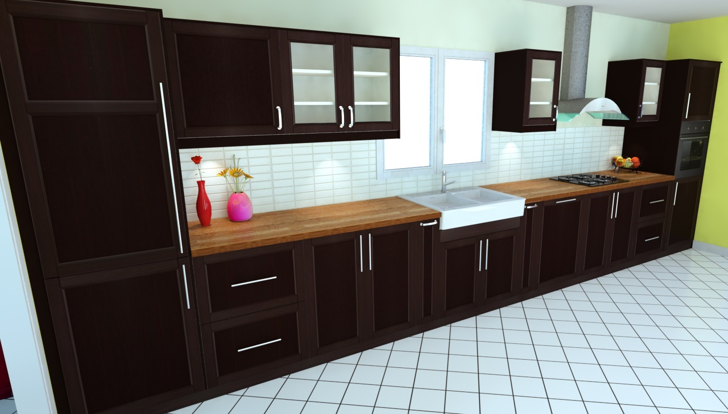 logiciel 3d realiser votre cuisine dynamique agencement plugin kitchen. Black Bedroom Furniture Sets. Home Design Ideas