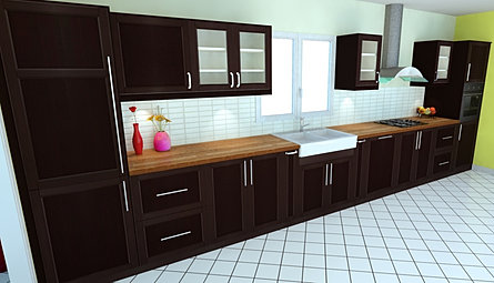 dynamique agencement rendered 3d kitchen made 3d images. Black Bedroom Furniture Sets. Home Design Ideas