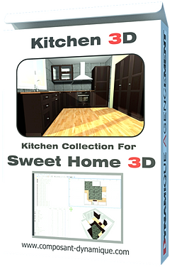Dynamique agencement nos produits plugin et collection 3d for Bibliotheque meuble sweet home 3d