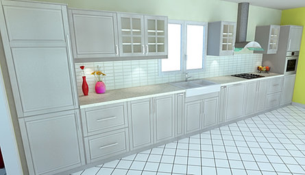 Dynamique agencement rendered 3d kitchen made 3d images for Telecharger ikea cuisine 3d 2012