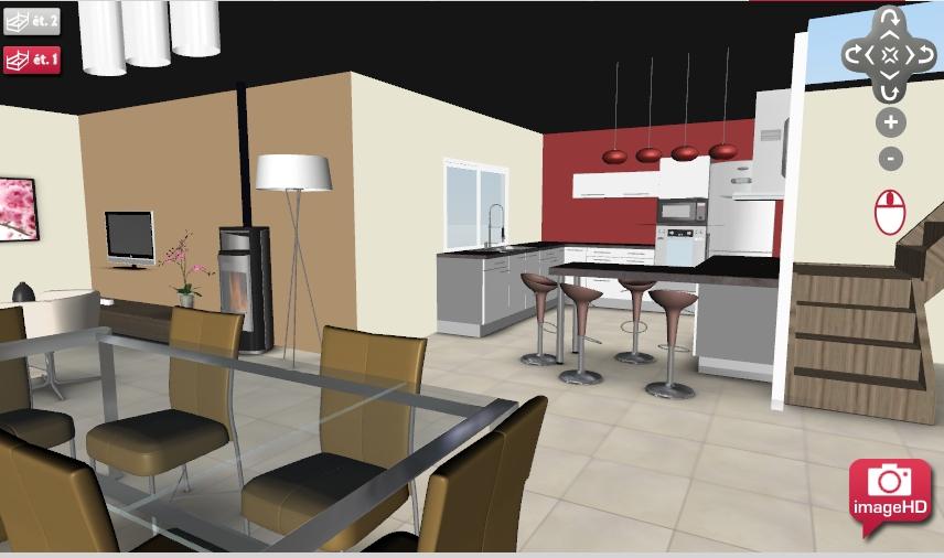 82b4c8 for Architecte interieur cuisine ouverte