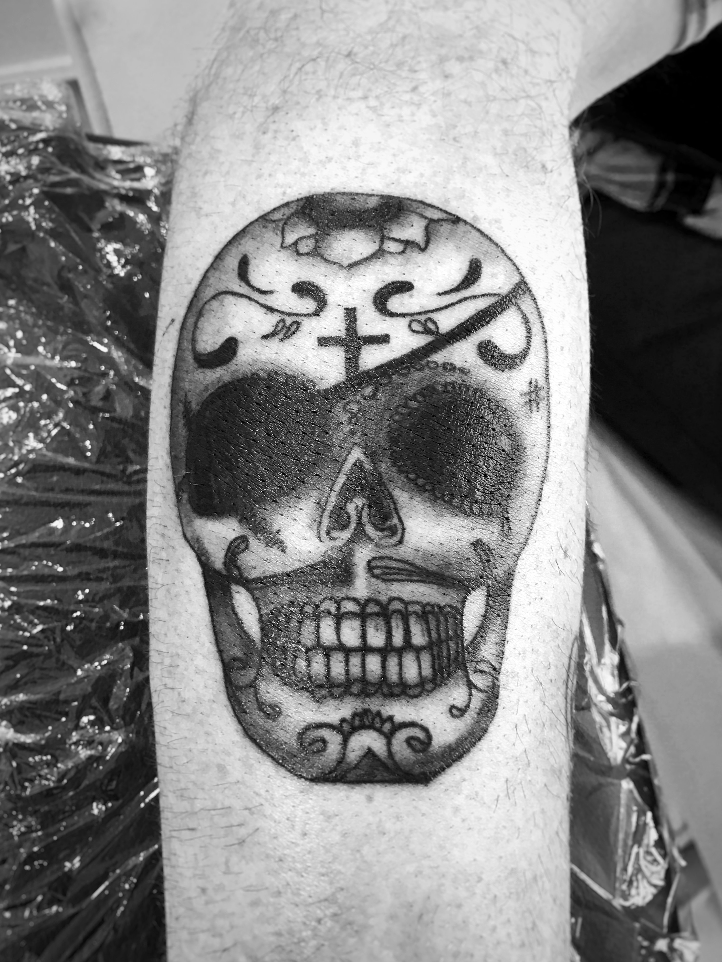 tatouage tete de mord mexicaine
