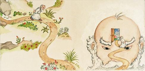 illustration Aristotle explores the mind
