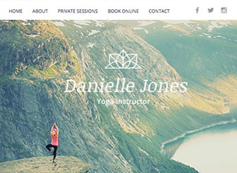 Yoga Instructor Template - Attract new students with this powerful and alluring website template. Perfect for yoga, pilates or other fitness instructors, this template offers the perfect balance of functionality and elegance. Using Wix Bookings, you can easily schedule and manage private classes. Start editing now to get your online presence out there!