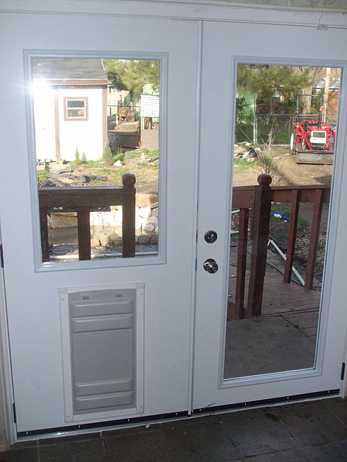 Doors4petsandpeople home french doors 4 pets for French door with dog door