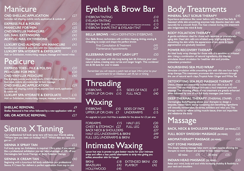 Pricelist citi spa aberdeen for Aberdeen tanning salon