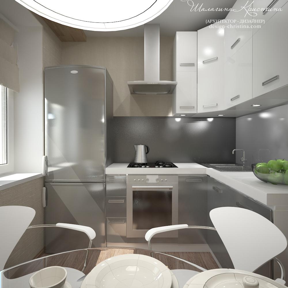 Дизайн кухни со стеклянным фартуком