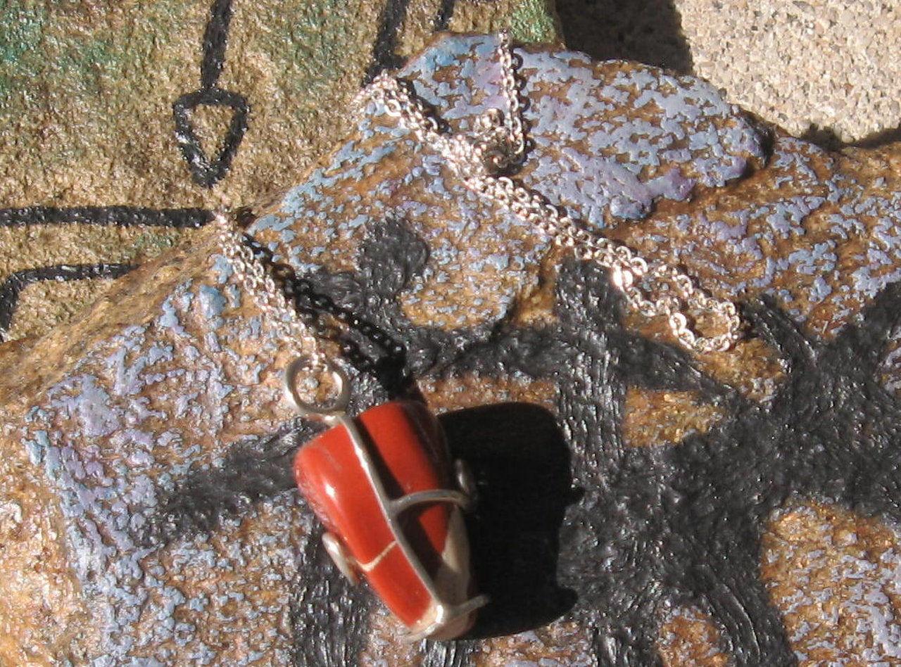red stone pendant