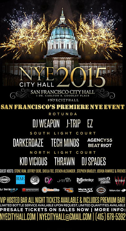 Best 2015 New Years Eve Parties In San Francisco