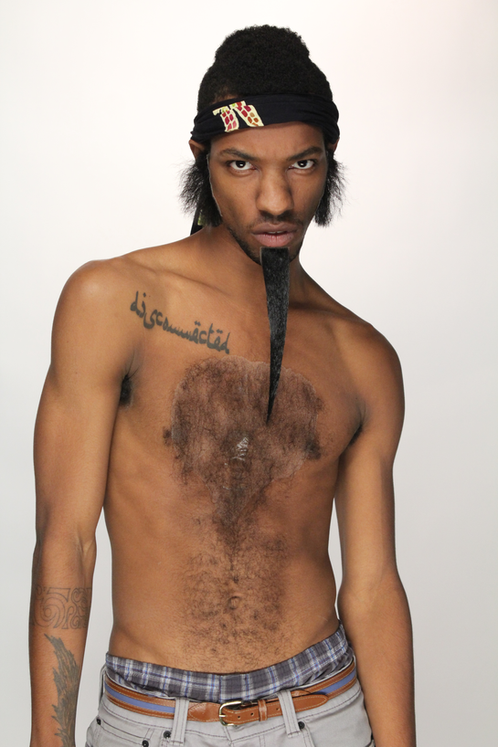 Tight Curly Chest Hair Mustache Parlor Fake Mustaches