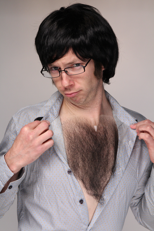 Large Chest Hair Mustache Parlor Fake Mustaches